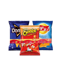 SNACKS TRIPLE PACK - (LAYS 160G,DOR180G, CHE 205G) PRICE OFF
