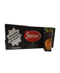 Shereen-Orange-100%-Juice250ml-24Pcs
